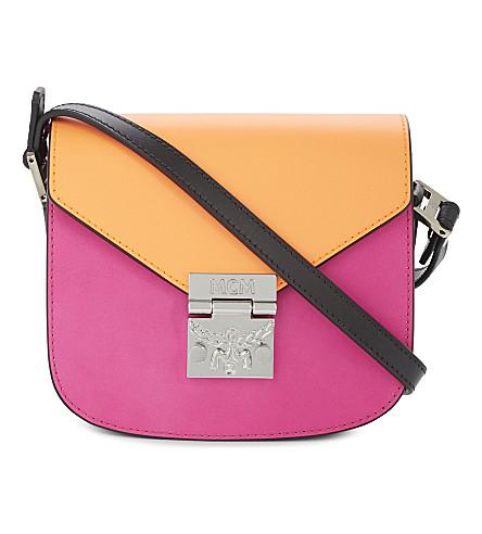 MCM Patricia leather cross-body bag (Orange electric pink