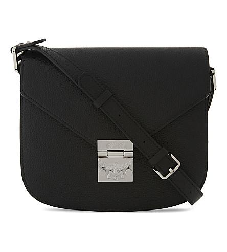 MCM Patricia Park Avenue leather shoulder bag (Black