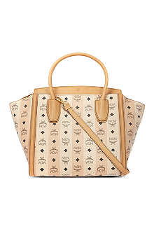 MCM Road to paradise leather tote
