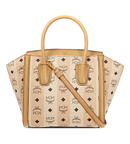 MCM Road to paradise small leather tote (Beige