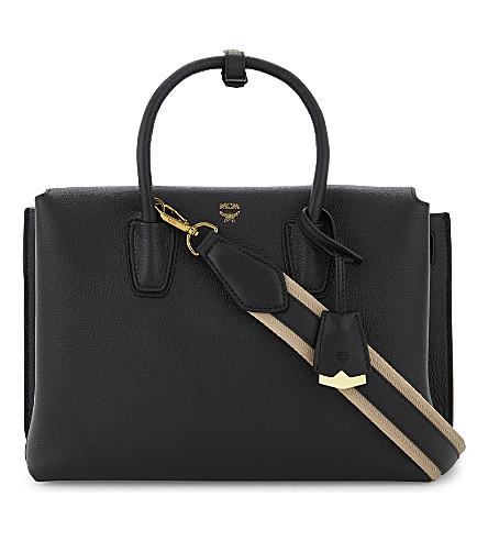 MCM Milla medium leather tote (Black