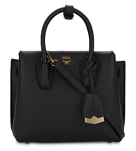 MCM Milla mini leather satchel (Black