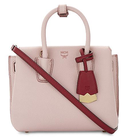 MCM Milla mini leather satchel (Pale mauve