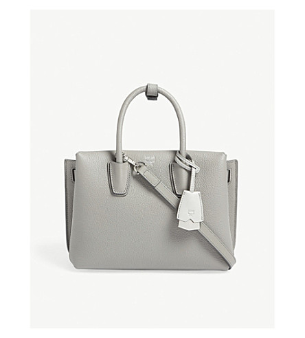 MCM Milla small leather tote (Arch+grey