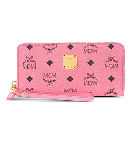 MCM Large Stark wallet (Pink