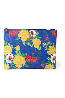 MCM Flower leather pouch