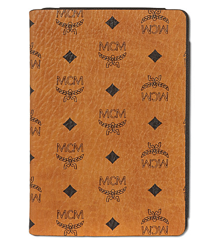 MCM Leather iPad case (Cognac