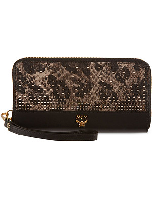 MCM Studded leopard print purse