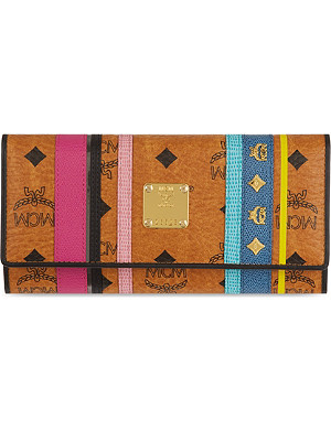 MCM Stiped leather wallet