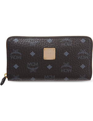 MCM Visetos zip around wallet