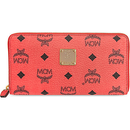 MCM Visetos wallet (Red   pink