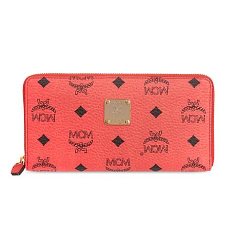 MCM Visetos wallet (Red   pink