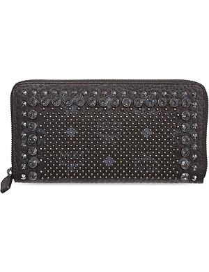 MCM Large studded zip around wallet