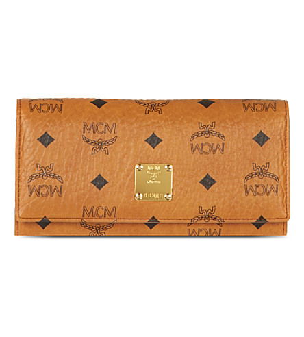 MCM Heritage leather wallet (Cognac