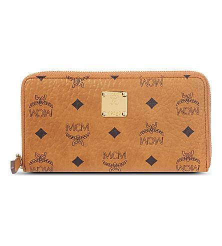 MCM Heritage zip wallet (Cognac
