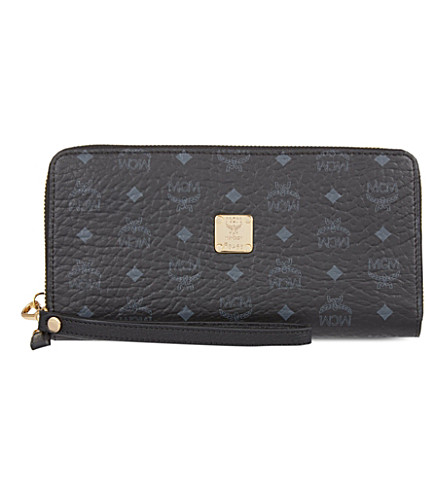 MCM Visetos zip-around wallet (Black