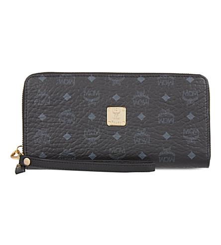 MCM Visetos zipper-around wallet (Black