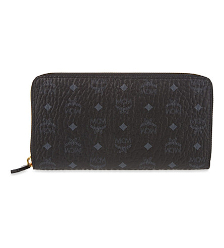 MCM Color visetos large wallet (Black