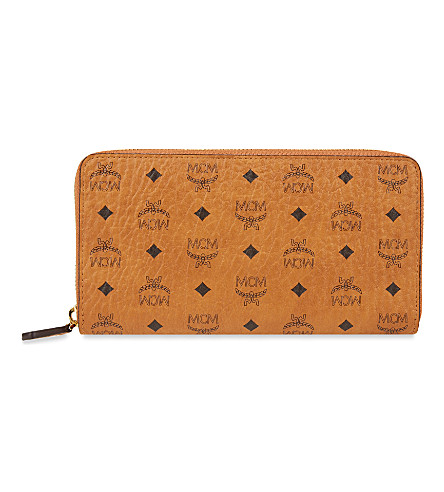 MCM Color visetos large wallet (Cognac