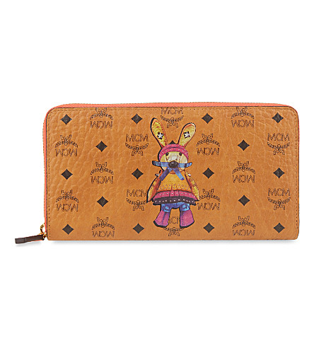 MCM Rabbit large wallet (Cognac