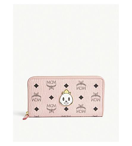 MCM Eddie Kang Loveless zip-around wallet (Soft+pink