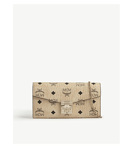 MCM Patricia leather cross-body bag (Beige