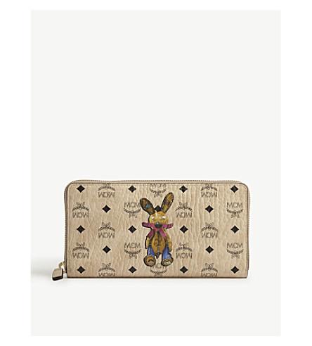MCM Rabbit Visetos wallet (Beige