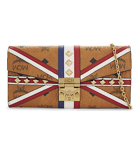 MCM Union Jack leather wallet (Cognac