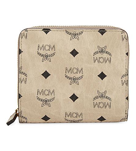 MCM Colviseto mini coated canvas purse (Beige