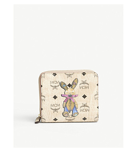MCM Rabbit Visetos coated canvas mini purse (Beige