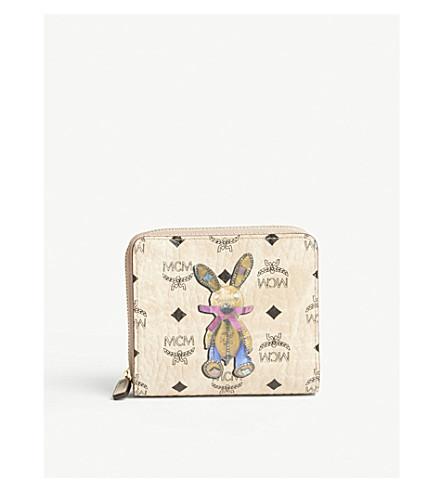 MCM Rabbit Visetos coated canvas mini purse (Beige