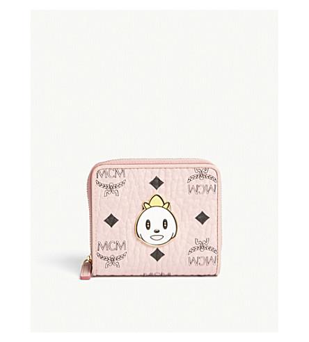 MCM Eddie Kang Loveless mini zip-around purse (Soft+pink