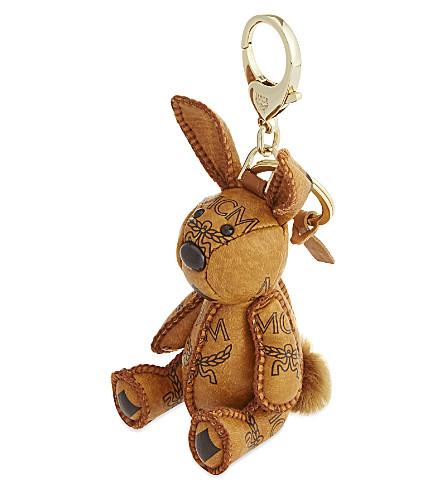 MCM Visetos rabbit charm (Cognac