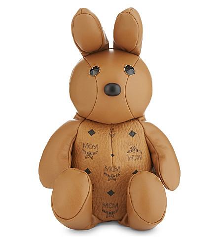 MCM Rabbit leather backpack (Cognac