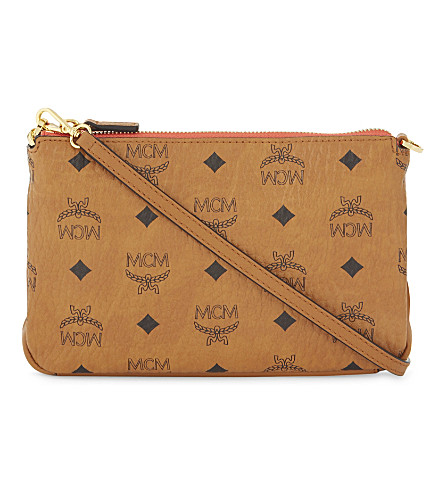 MCM Millie coated canvas cross-body bag (Cognac