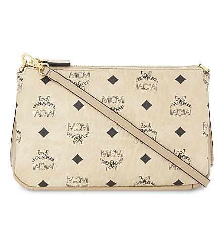 MCM Millie leather cross-body bag (Beige