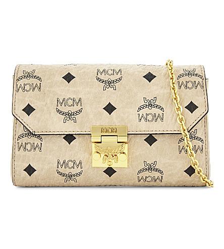 MCM Millie Visetos cross-body bag (Beige