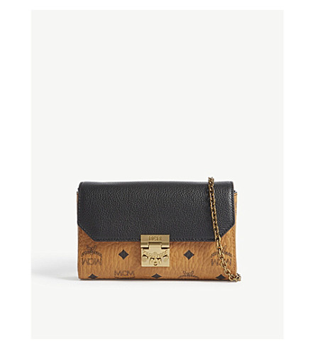 MCM Millie Visetos small cross-body bag (Black
