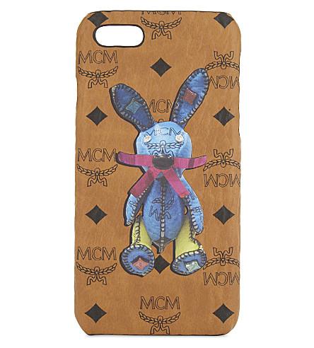 MCM Rabbit coated canvas iPhone 7 case (Cognac