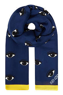 KENZO New Eyes modal and cashmere-blend scarf