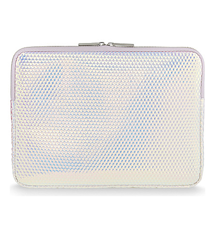 SKINNYDIP Druzy metallic 12'' laptop case (Silver