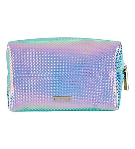 SKINNYDIP Textured holographic make-up bag (Multi