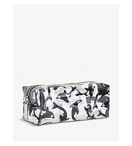 SKINNYDIP Killer Whale make up bag (Black