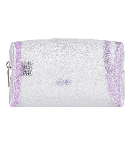 SKINNYDIP Sparkle make-up bag (Silver