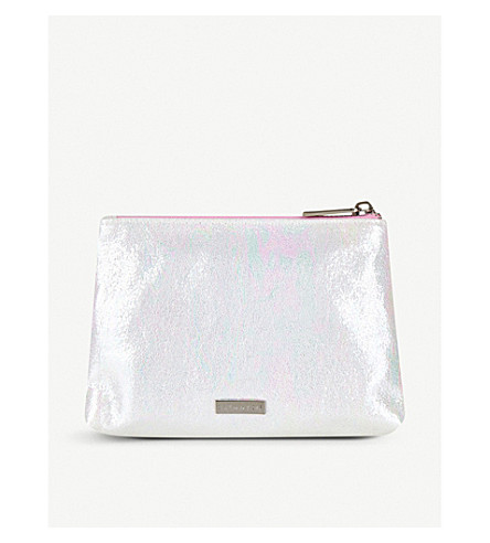 SKINNYDIP Pearlescent make up bag (Silver