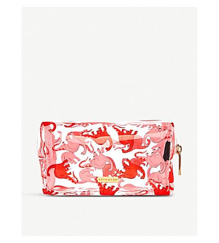 SKINNYDIP Dino make-up bag (Pink+dino