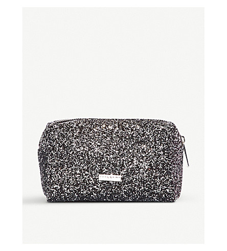 SKINNYDIP Midnight glittered make up bag (Midnight