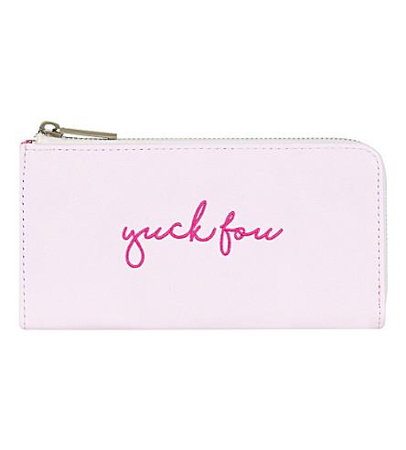 SKINNYDIP Yuck Fou embroidered PU purse (Multi