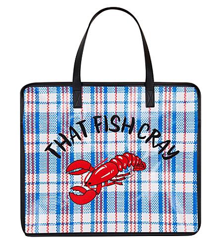 SKINNYDIP That fish cray tote bag (Blue