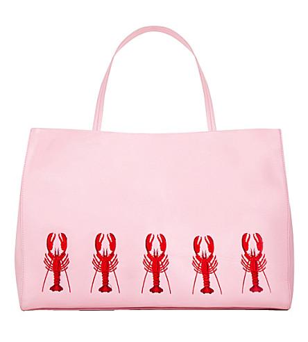SKINNYDIP Camille lobster shoulder bag (Pink